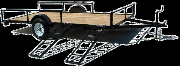 Falcon slide ramp trailer