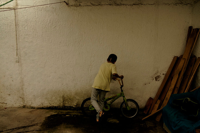 The boy on the bike