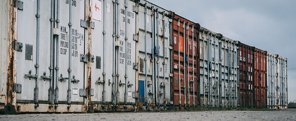 row of containers