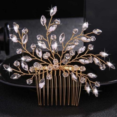 Silver, Rhinestone, & Crystal Hair Comb   Silver, Rhinestone, & Crystal Jewelry