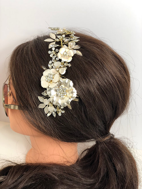 Wedding Bridal Hair Comb Vine Headpiece Wedding Headpiece With Pearls Rhinestone