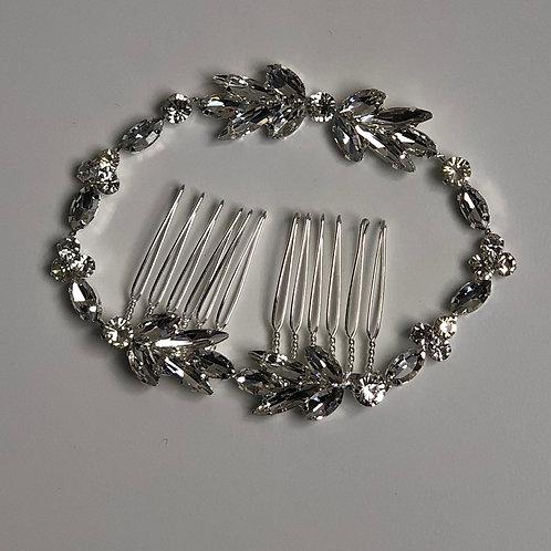 Silver Rhinestone Chain Headband | Silver & Rhinestone Hair Chain Jewelry