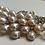 Thumbnail: Peacock Gold, Rhinestone, & Pearl Hair Comb | Peacock Gold, Rhinestone, & Pearl