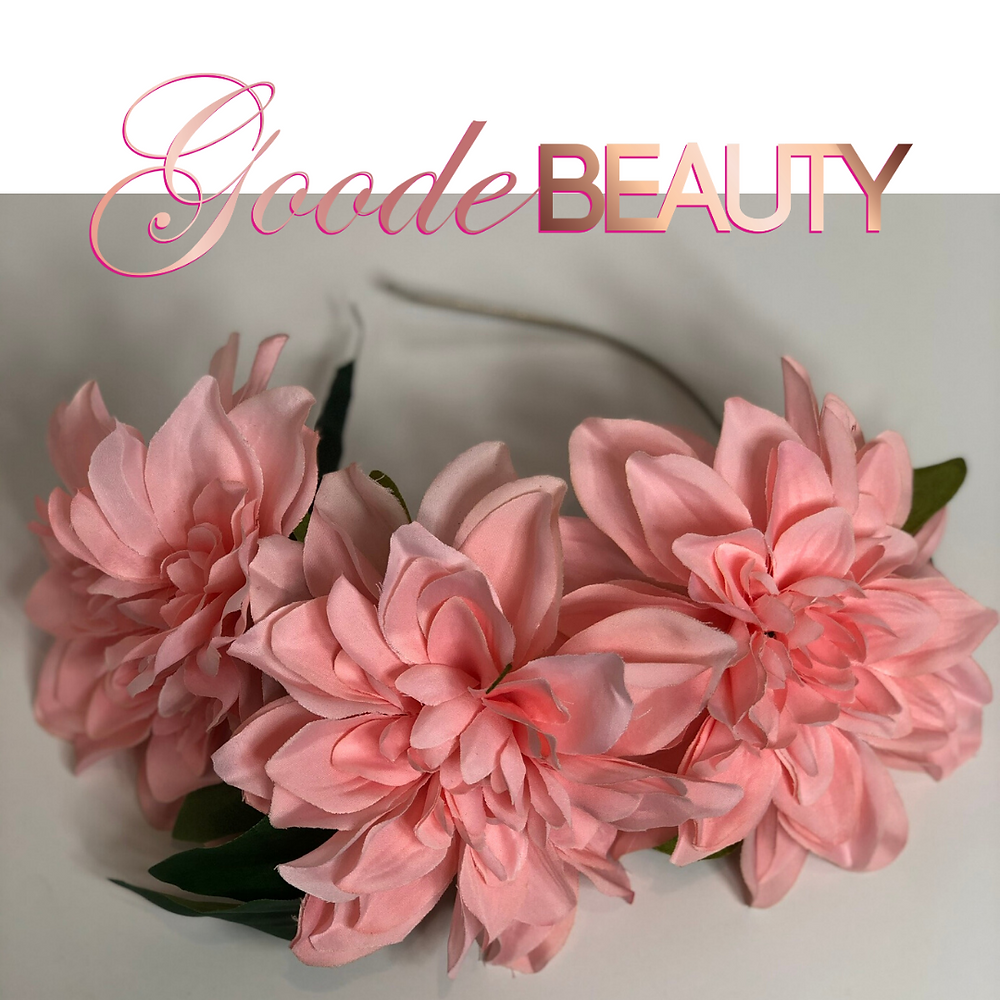 Pink Blush Peony Flower Halo Headband