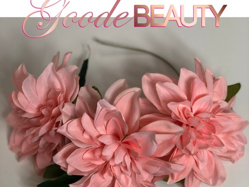 Goode Beauty | Flower Halo Headband | Rose Flower Halo for Bride, Bridesmaids and Flower Girls.