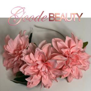 Pink Blush Peony Flower Halo Headband