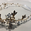 Thumbnail: Gold & White Flower Headband with Rhinestone Flowers & Pearls | Hair Chain