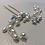 Thumbnail: Silver, Pearl & Crystal Hair Pin | Wedding Hair Jewelry