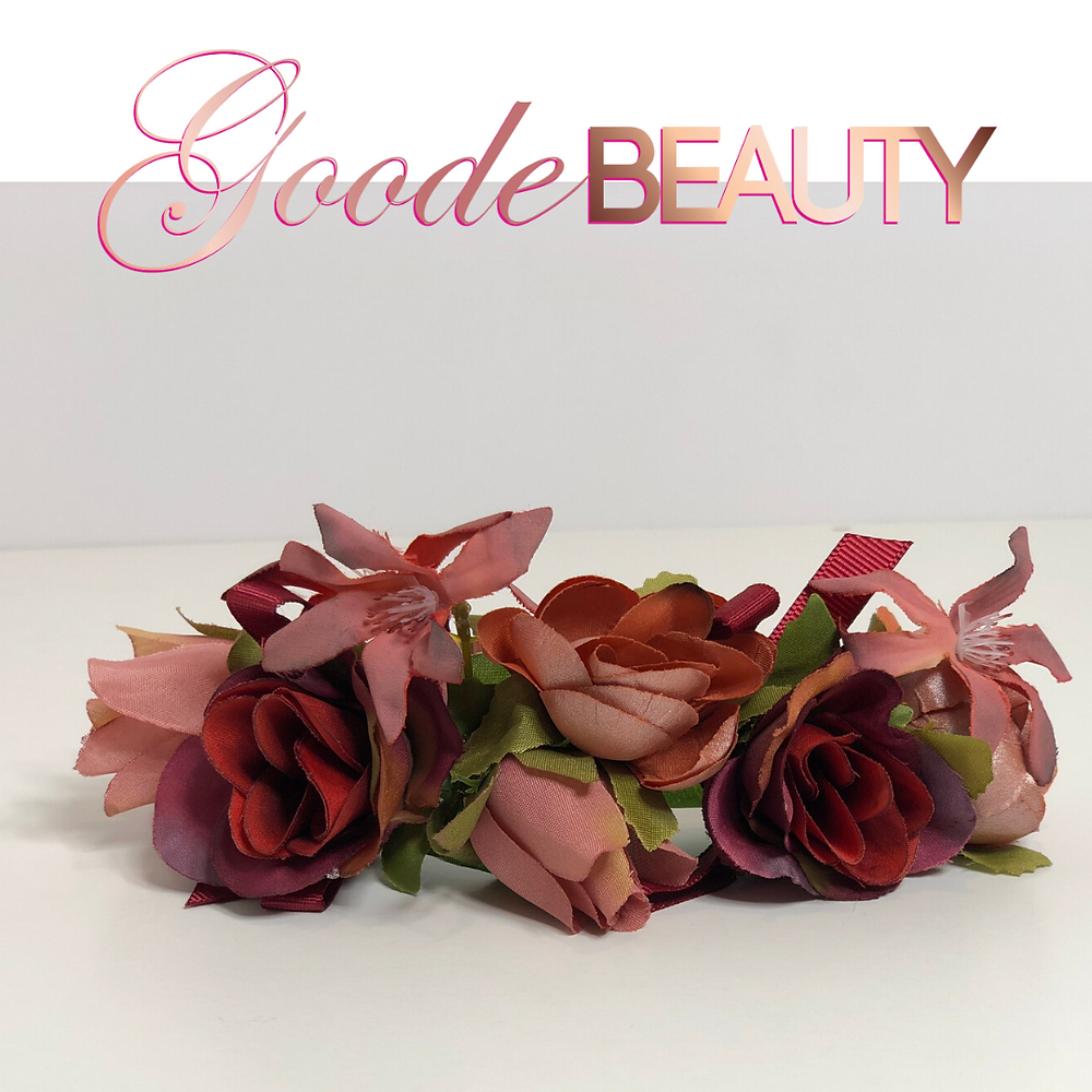 Red, Rose, Pink and Blush Flower Halo Headband