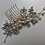 Thumbnail: Silver, Pearl & Crystal Flower Hair Comb | Wedding Hair Jewelry