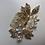 Thumbnail: Gold Leaf & Flower, Rhinestone, & Crystal Hair Comb | Gold, Rhinestone, Pearl