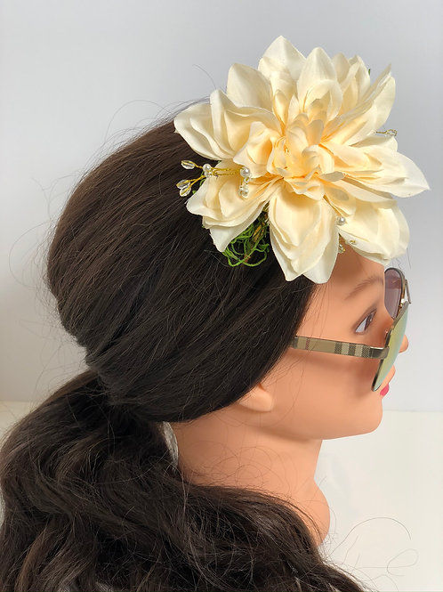 Dahlia and Rhinestone Headband