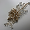 Thumbnail: Gold Flower, Rhinestone, & Crystal Hair Comb | Gold, Rhinestone, & Crystal Jewel