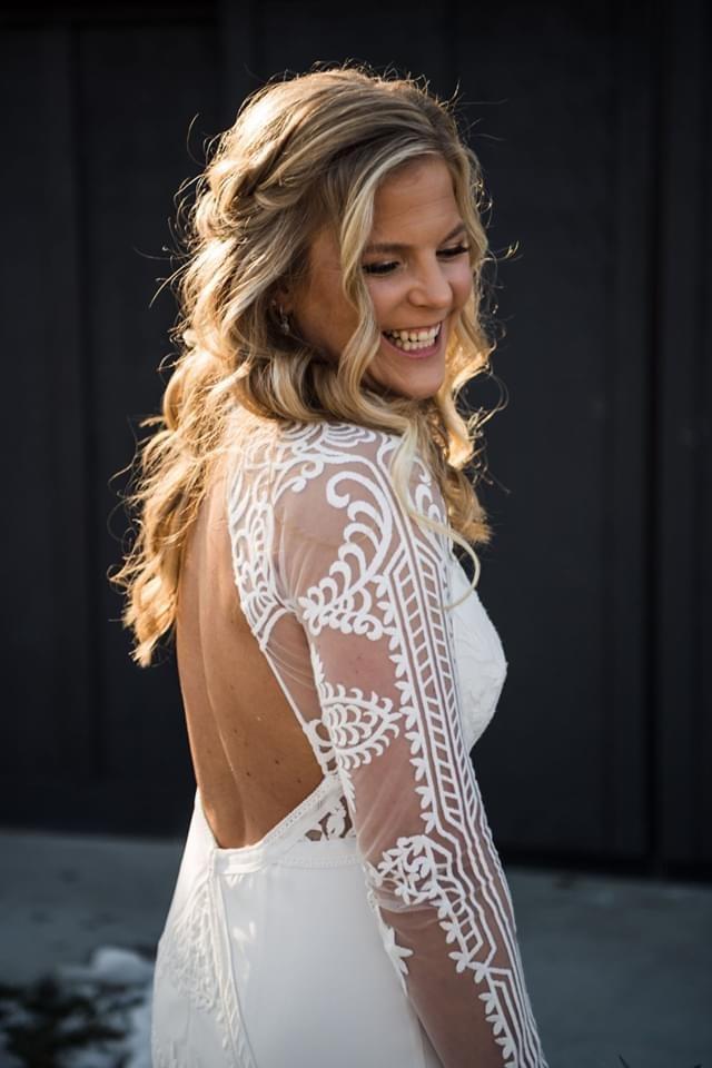 Melissa Elliott's Beautiful Wedding Day in New Albany, Ohio, February 2020, Pre-Corona Virus / Covid-19, Radiant Smile, Stunning Gown