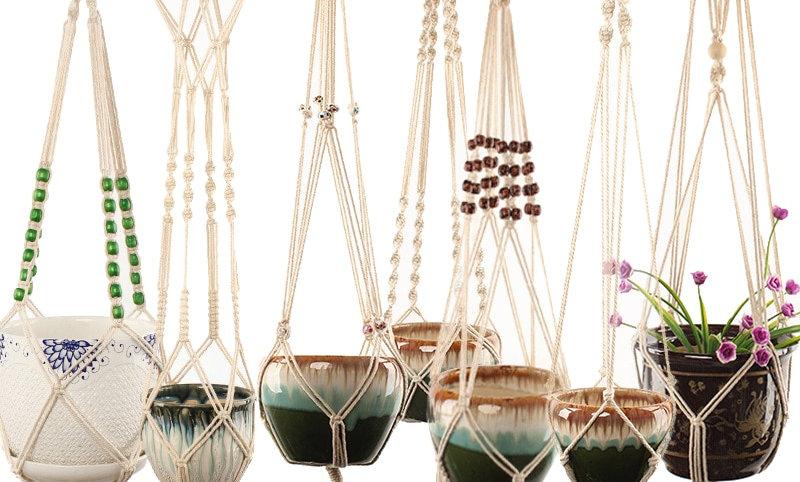 Handmade Macrame Plant Hanger Flower