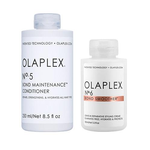 Olaplex Bond Maintenance Conditioner No. 5 & Olaplex Bond Smoother No.6
