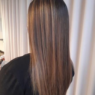 """Haarmodell für unser Seminar """"Balayage"""""""