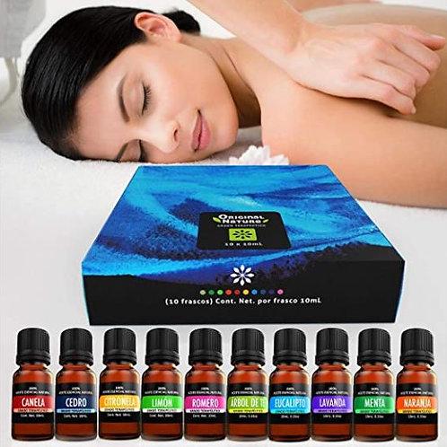 10 aceites Esenciales para difusor y aromaterapia