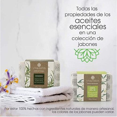Romero y Árbol del té. Jabones artesanales para uso facial y corporal.