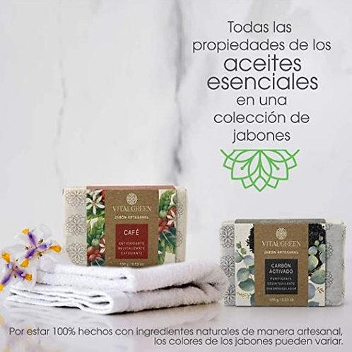 Carbón activado y Café. Jabones artesanales para uso facial y corporal.