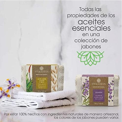 Lavanda y Aloe Vera. Jabones artesanales para uso facial y corporal.