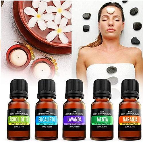 5 aceites Esenciales para difusor y aromaterapia