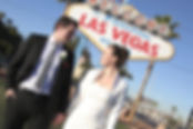 Hochzeit am weltberuehmten Las Vegas Welcome Sign