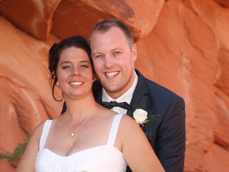 Von Las Vegas aus mit der Limousine ging es zur Trauung von Anja und Thomas ins Valley of Fire