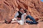 Heiraten im Valley of Fire mit der Super-Stretchlimousine