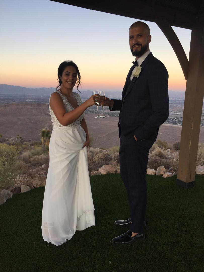 Helikopter - Hochzeit im Red Rock Canyon