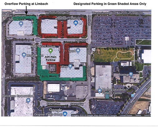 AIM Sportsplex parking map