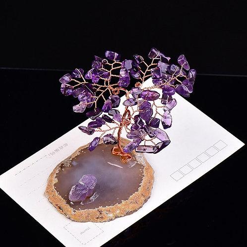 1PC Natural Crystal Handmake Gravel Tree of Life. Raw Crystals Energy Stone