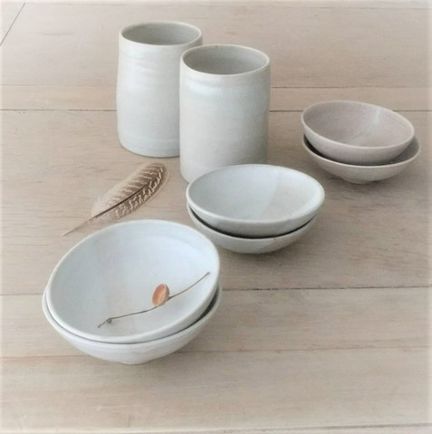 Cylinders and small bowls