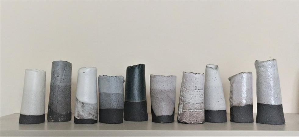 Black clay vessels
