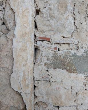 Decaying chapel wall