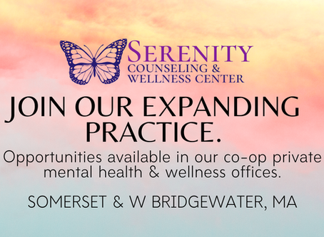 We've Expanded! Looking for experienced Massachusetts Mental Health Professionals to join our team.