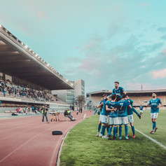 Jugadores celebrando el triunfo