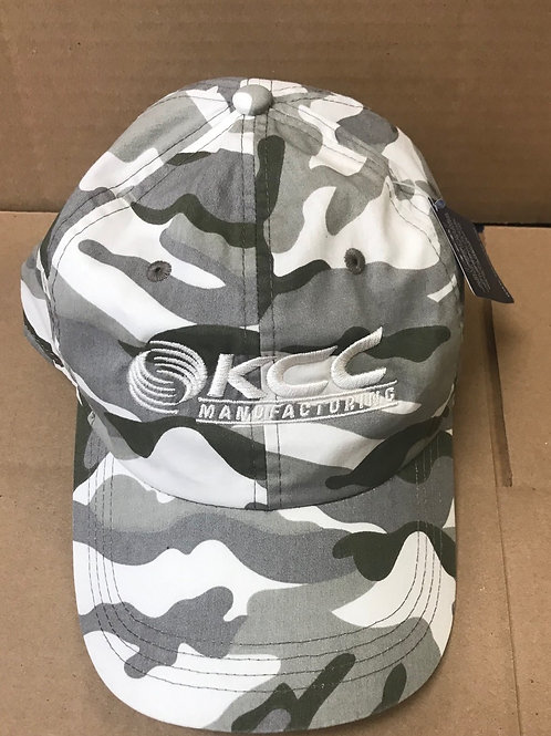 Camo hat with White KCC logo