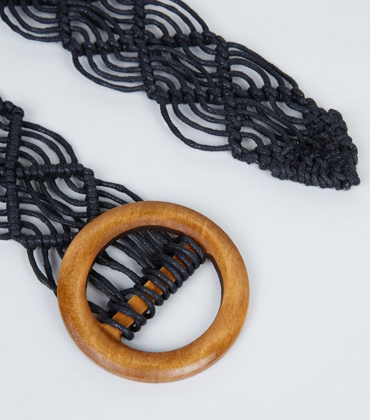 Black Macrame Belt