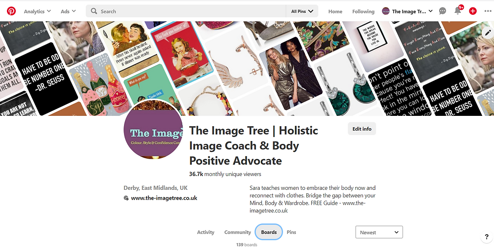 The Image Tree Pinterest Board, The business of being you, The image tree blog