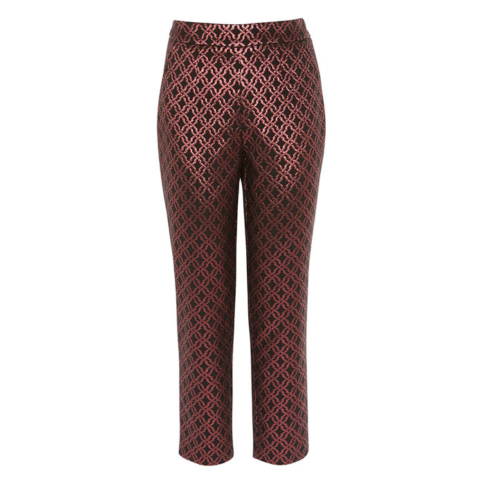 Coast Metallic Jacquard Trousers