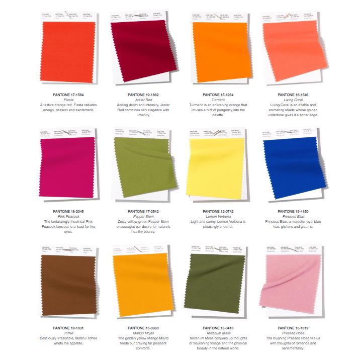 Pantones Spr/Summ Colours 2019 London