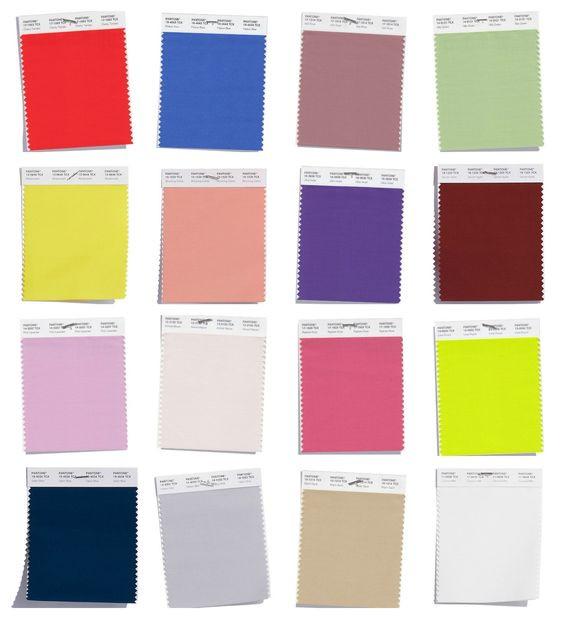 Pantone Spring Summer palette 2018