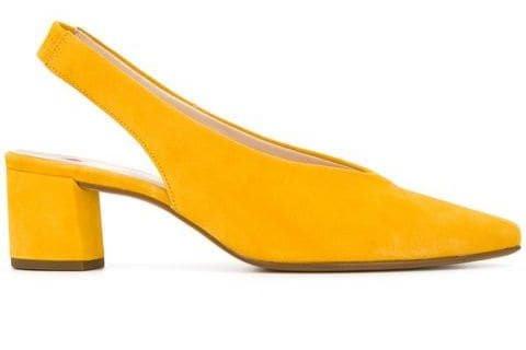 Yellow slingback Heel