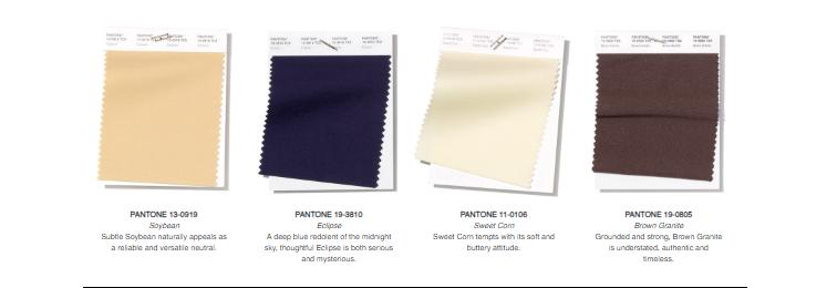 Pantone Neutrals London Spr/Sum 2019