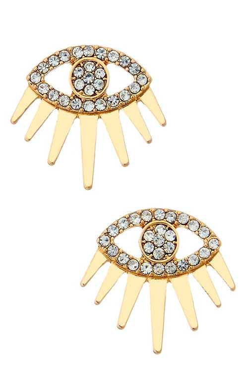 Gold Eye Earrings