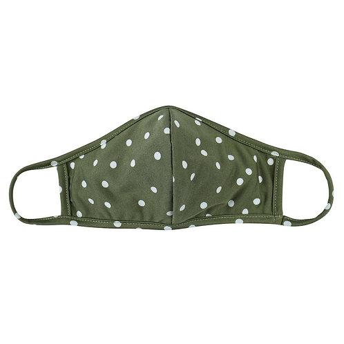 Green Polka Dot Mask