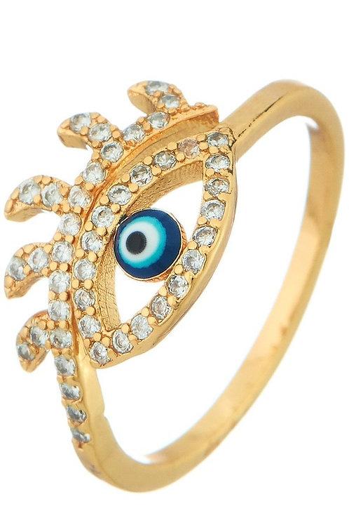 Gold Evil Eye Ring