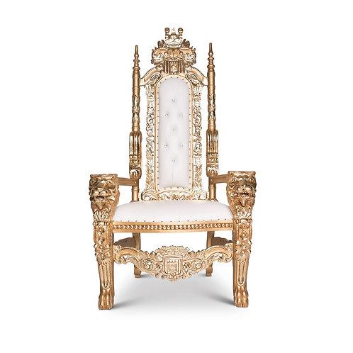 King Armless Lion Throne Chair