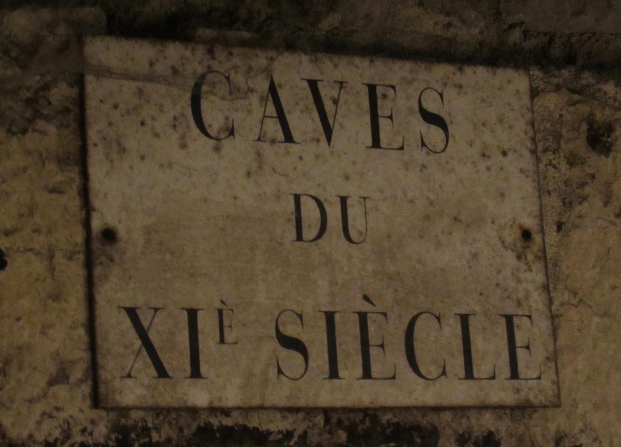Ancient wine cave in Burgundy